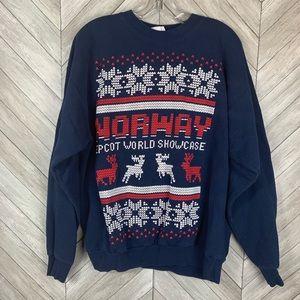 Vintage Norway Epcot world showcase sweatshirt